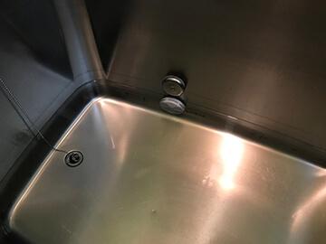 浴槽の水が減る