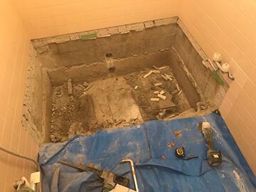 お風呂の工事