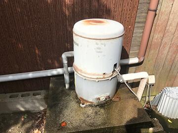 ポンプの水漏れ