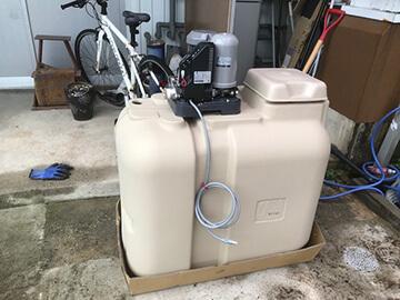 受水槽付きポンプ交換