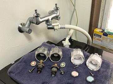 蛇口の修理