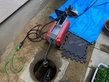 下水つまり修理